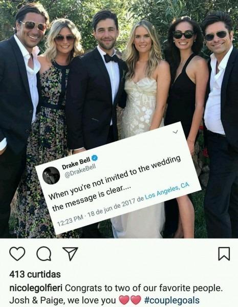 Josh Peck's Wedding   Sadcringe