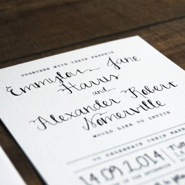 Calligraphy Wedding Invitation From Festdude For A Divine Wedding