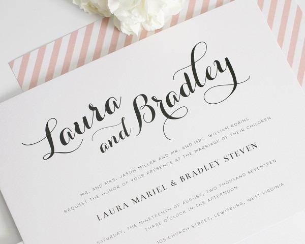 Calligraphy Wedding Invitation From Festdude Is Enchanting Ideas