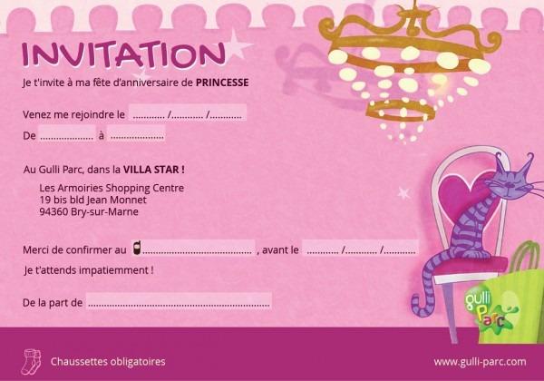 Carte D Invitation Anniversaire En Anglais