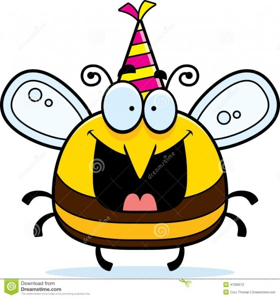 Cartoon Bee Birthday Party Stock Vector  Illustration Of Bumble