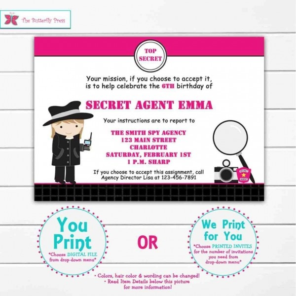 Spy Secret Agent Birthday Party Decorations