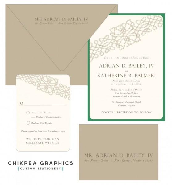 Celtic Design Wedding Invitations Irish Celtic Wedding Invitation