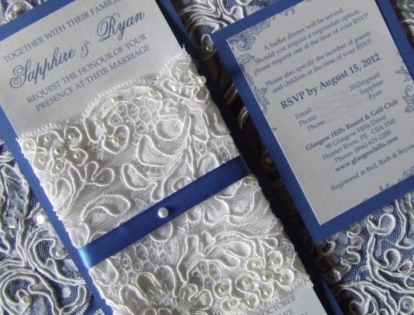 Wedding Invitation Ideas  Cheap Blue Wedding Invitations Ribbon
