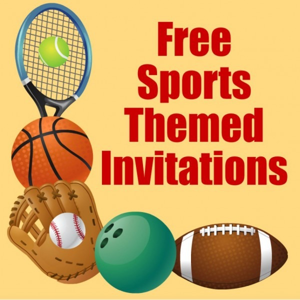 Sport Invitations Templates Free