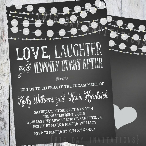 Chic Engagement Party Invitations Cheap Engagement Party
