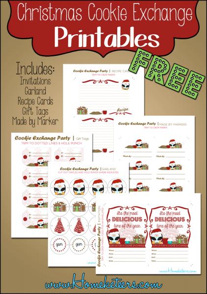 Christmas Cookie Exchange Printables Penguin Theme ~ Free