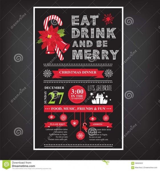 Christmas Restaurant And Party Menu, Invitation  Stock Vector