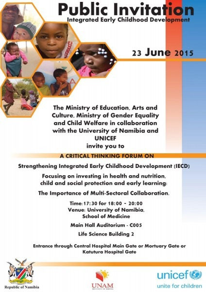 Unicef Namibia On Twitter   Public Invitation To Critical Thinking
