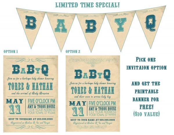 Baby Shower  Coed Baby Showers  Coed Baby Shower Invitation