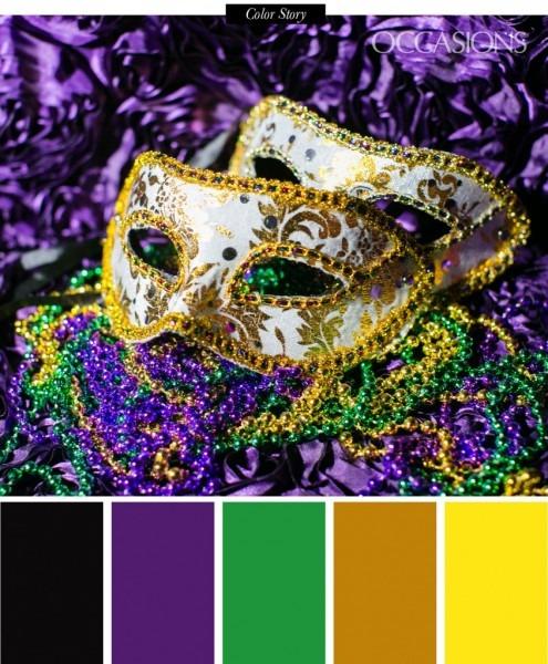 Mardi Gras Themed Wedding In Atlanta