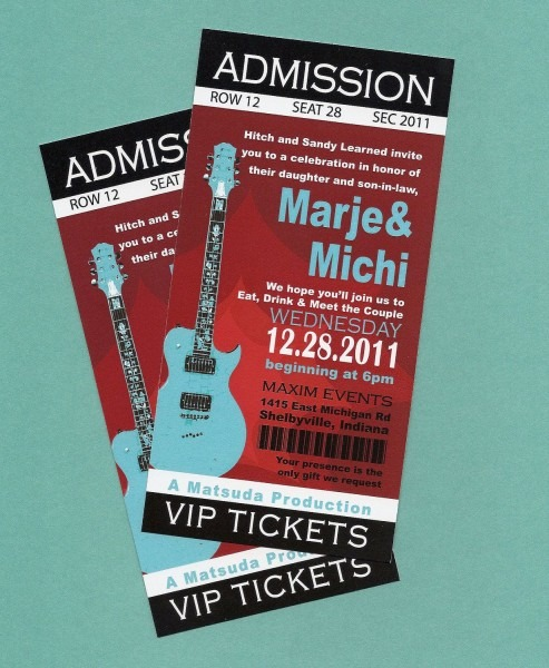 Concert Ticket Birthday Invitation From I And Get Inspiration To