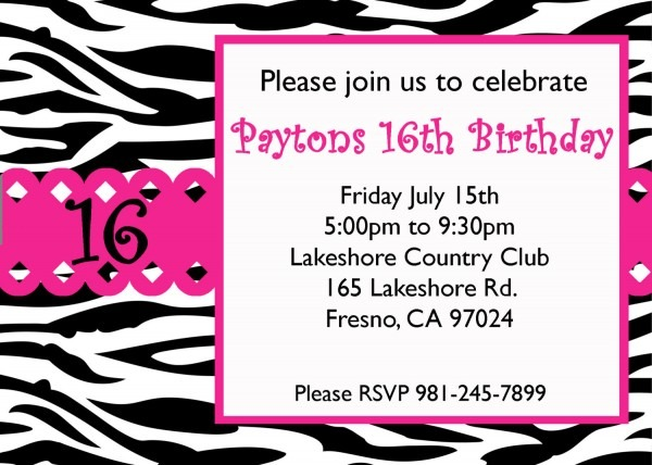 Sweet 16 Invitations Maker