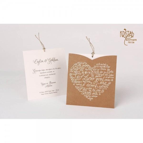 Craft Wedding Invitations,heart Style Wedding Invitations,i Love