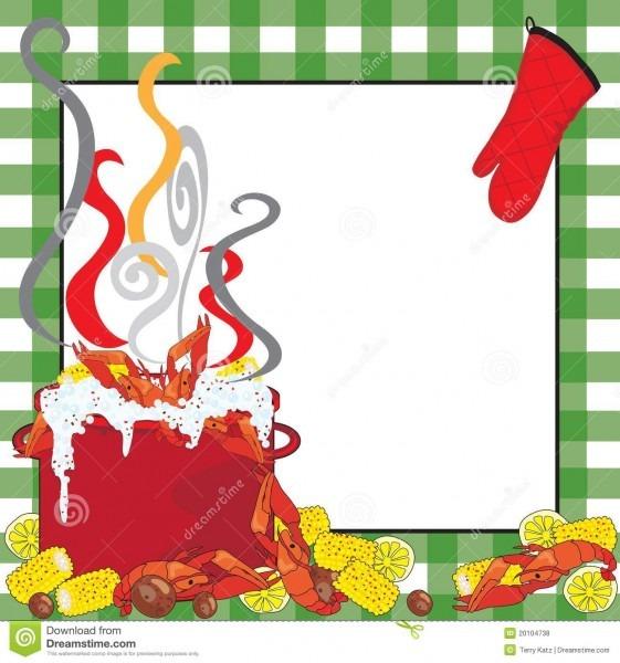 Crawfish Boil Invitation Stock Vector  Illustration Of Card