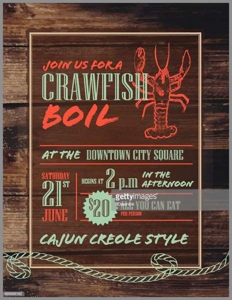 Crawfish Boil Invitation Templates Free Beautiful Crawfish Boil