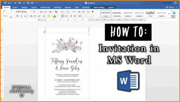 7+ Creating An Invitation In Microsoft Word