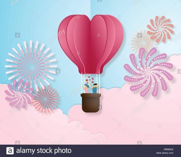 Creative Love Invitation Card Valentine's Day Vector Illustration