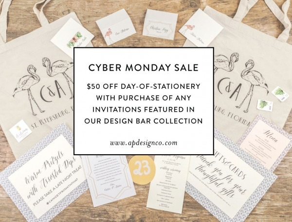 Cyber Monday Sales On Letterpress Wedding Invitations Archives