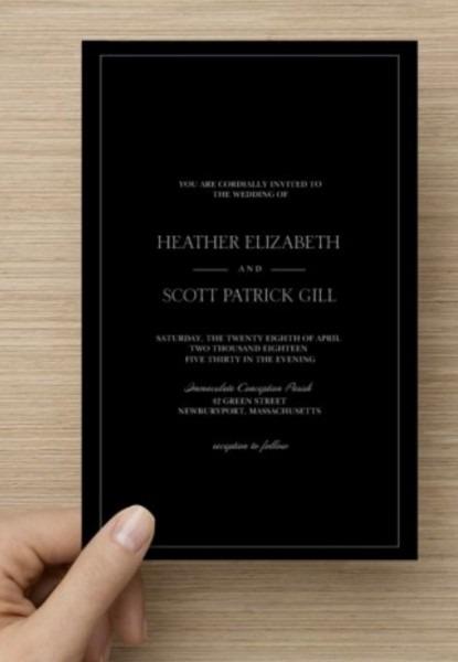 Opinions On Black Invitations