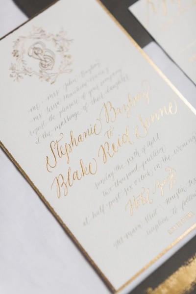 Black Tie Invitation Baton Rouge Wedding