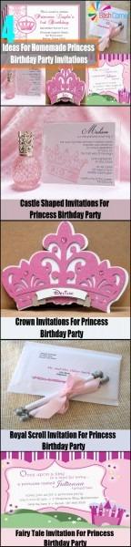 4 Ideas For Homemade Princess Birthday Party Invitations