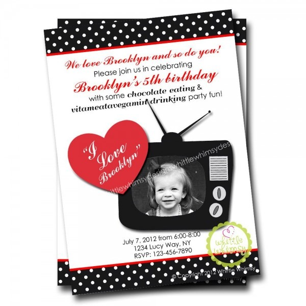 Custom I Love Lucy Photo Invitation