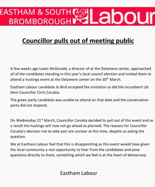 Eastham & South Bromborough Labour On Twitter   Having Given