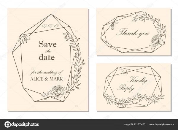 Wedding Invitation Rsvp Date Card Design Floral Frame Peony