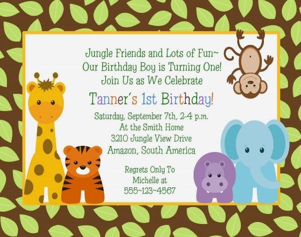 Design Jungle Theme Baby Shower Invitations Etsy Jungle Bridal