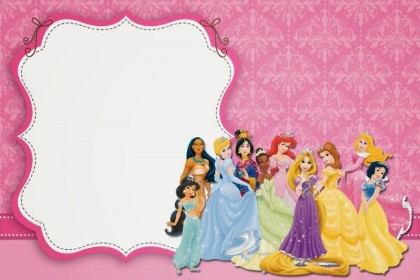Disney Princess Background For Invitation » Background Download