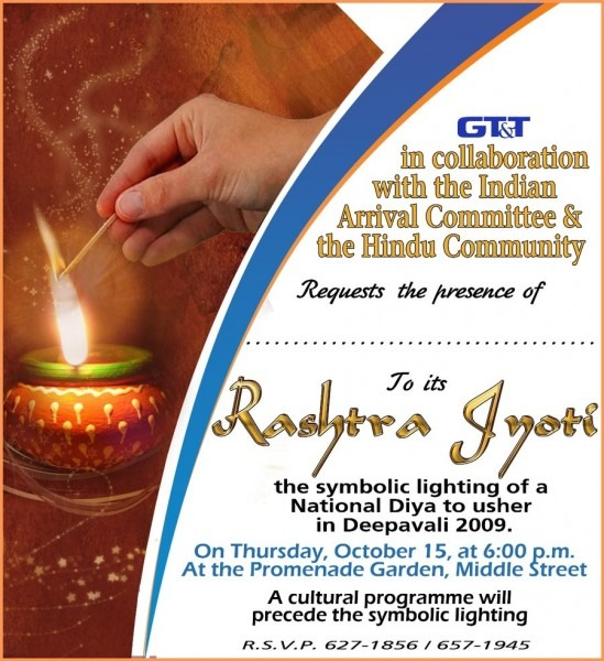 Diwali Invitation Card Design With Candle Lights Photo Also Golden