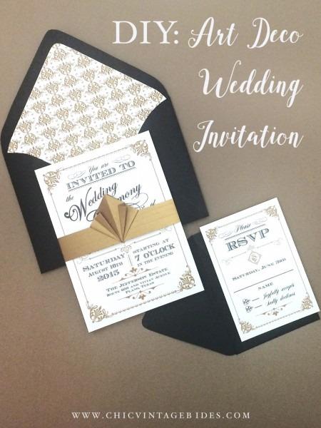 Art Deco Wedding Invitation Diy With Download & Print