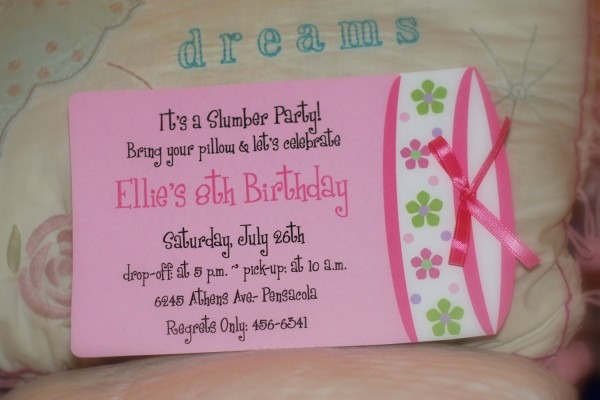 Diy Slumber Party Invitations
