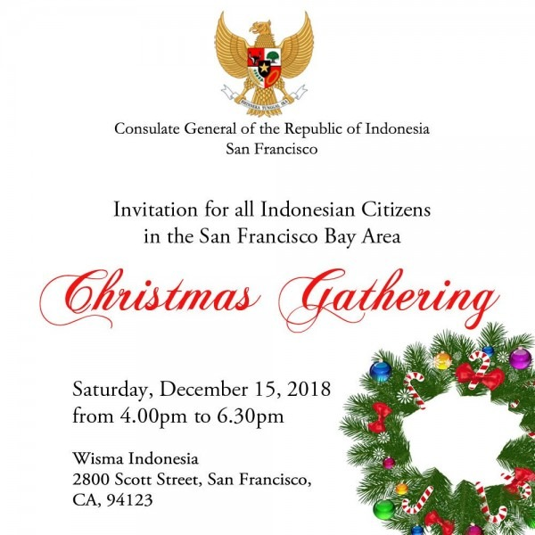 Kjri San Francisco On Twitter   Christmas Gathering Invitation To