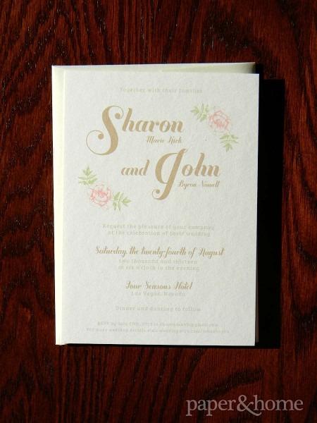 Four Seasons Las Vegas Wedding Invitations  Sharon & John
