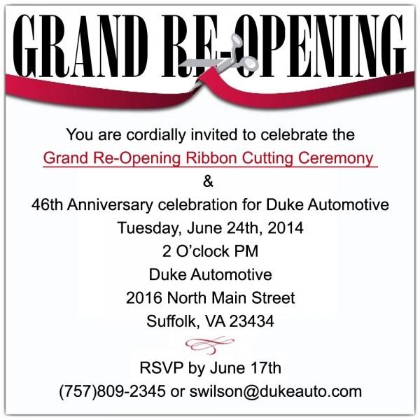 Duke Automotive Grand Re