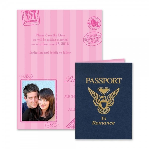 Passport To Romance Save The Date Card