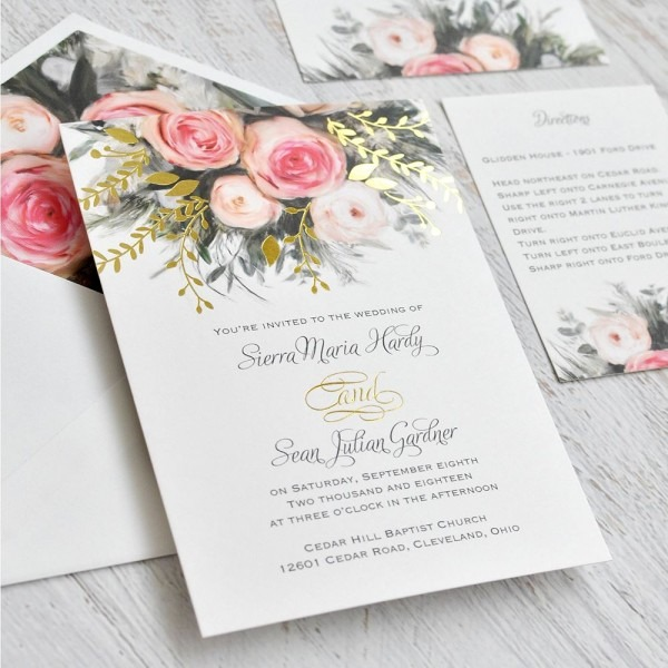 Ethereal Garden Foil Invitation
