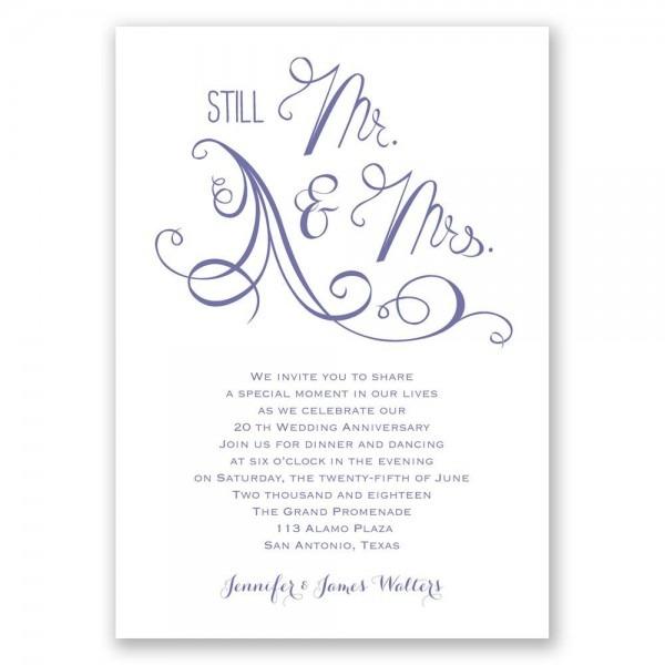 Still Mr  And Mrs  Anniversary Invitation