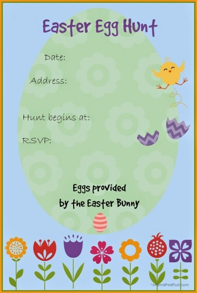 Easter Egg Hunt Invitation Templates Free – Hd Easter Images