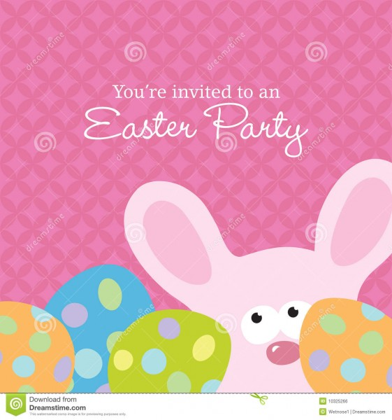 Easter Invite Template Stock Vector  Illustration Of Animal
