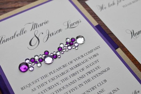Modern Glitz And Glamorous Wedding Invitation