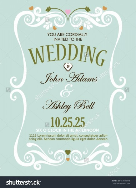 Elegant Invitation Card Wedding Wedding Invitation Card Design