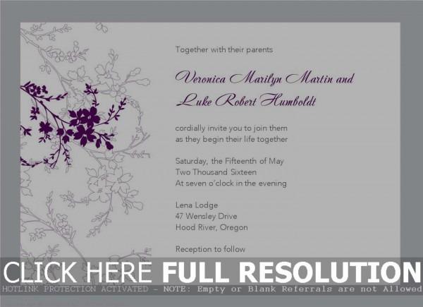 Free Invitations Templates Download