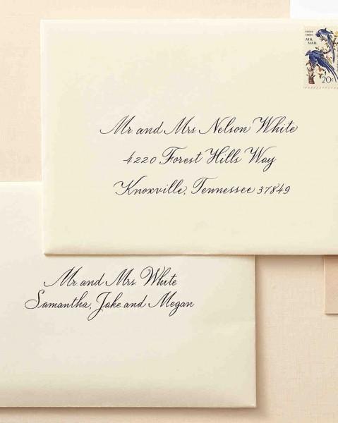 Wedding Invitations Addressing