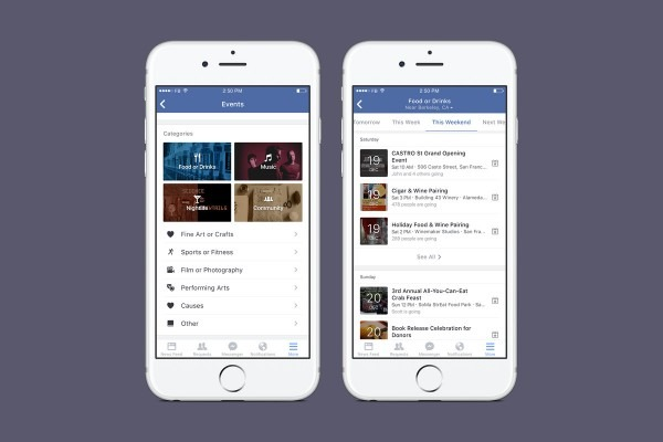 Facebook Is Making It Easier To Find Nearby Events