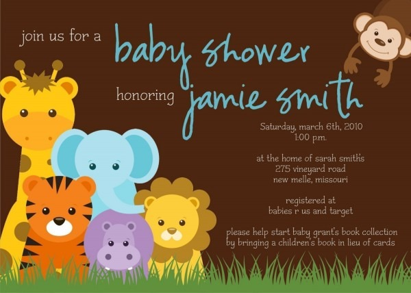 Baby Shower  Jungle Theme Baby Shower Invitations  Jungle Baby