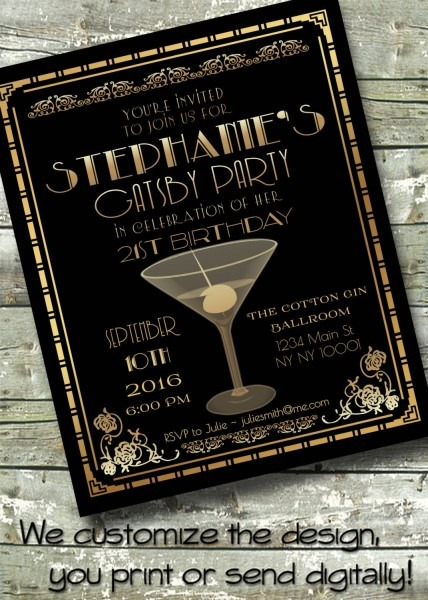 1920s Great Gatsby Speakeasy ~ Prohibition ~ Art Deco Birthday