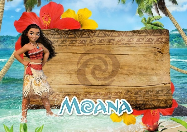 Moana  Free Printable Invitations